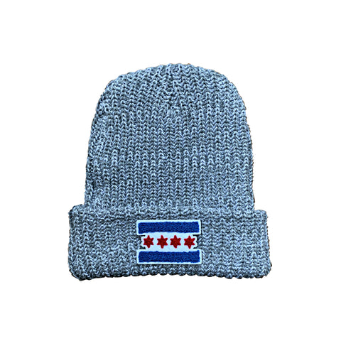 Chicago Flag Patch Winter Hat