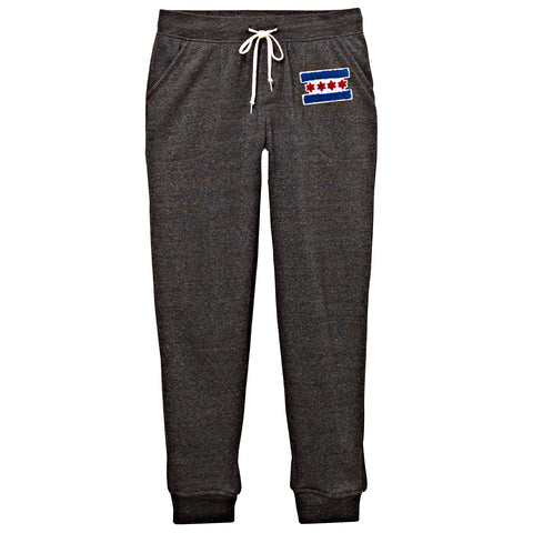 Chicago Flag Patch Sweatpants