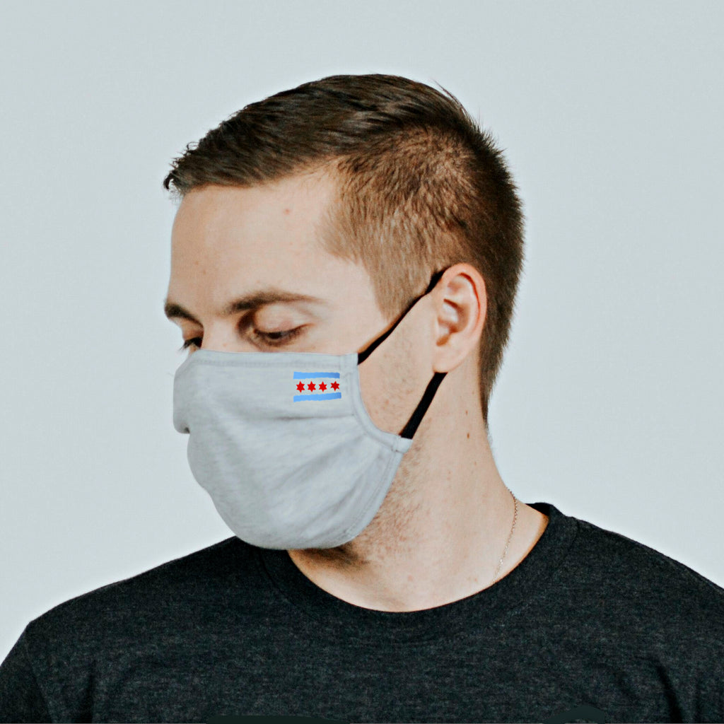 Chicago Flag Cloth Mask