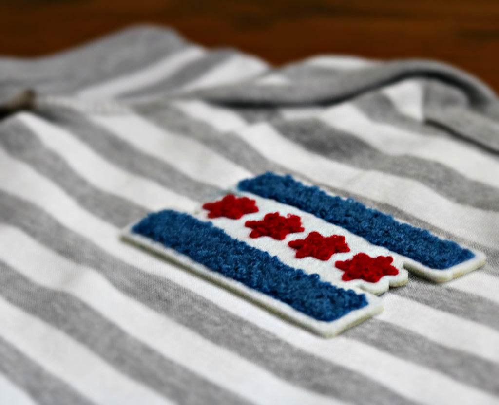 Chicago Flag Baby Jumper