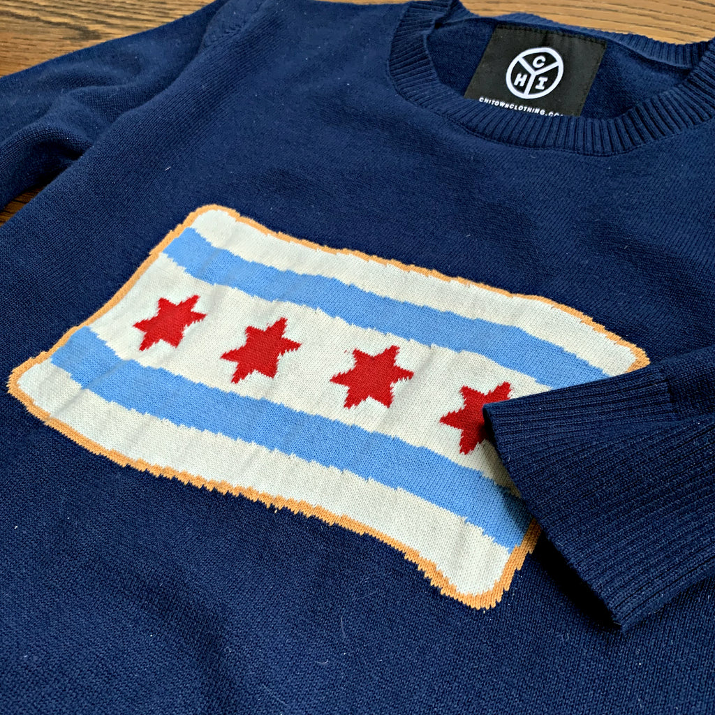 Chicago Flag Knit Sweater