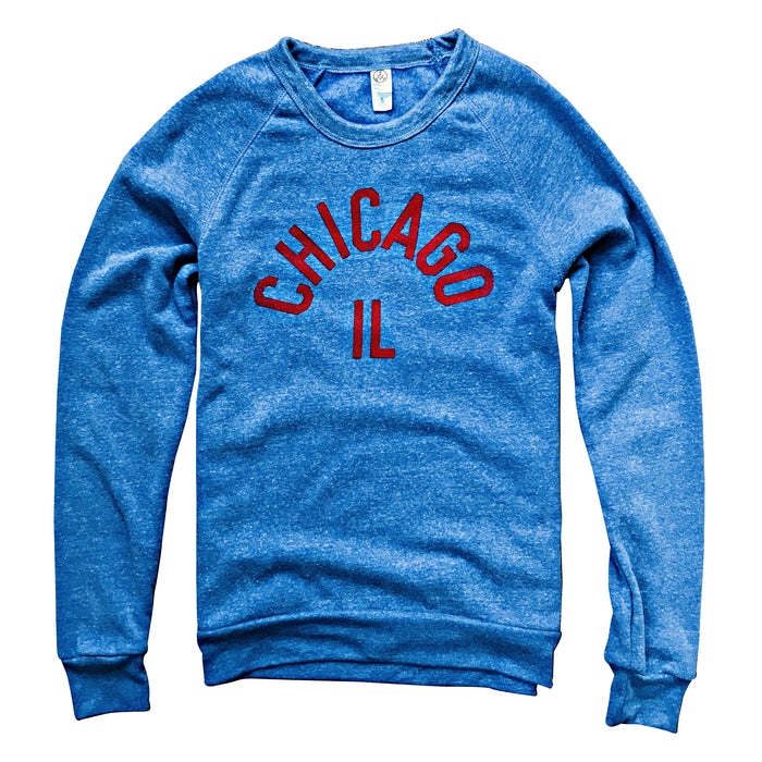 Chicago IL Blue Crewneck