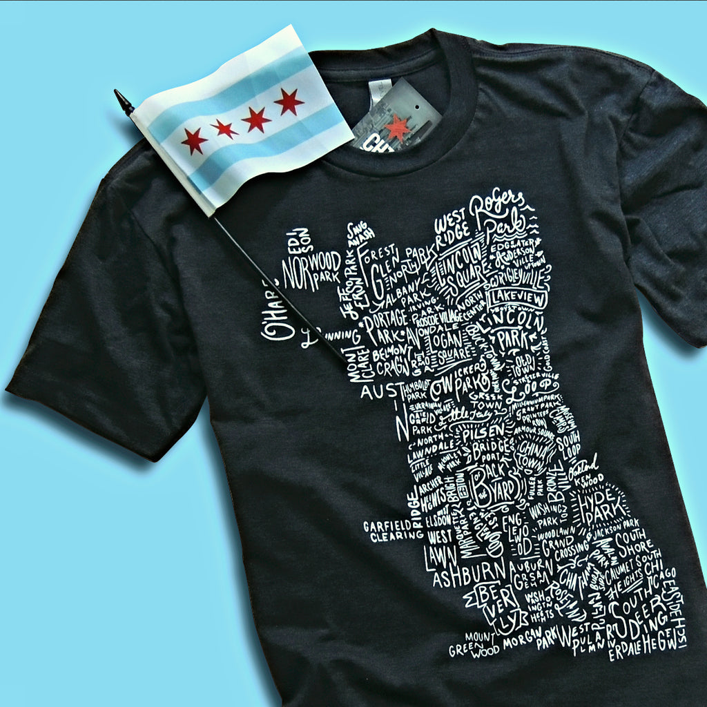 Chicago Neighborhood Map Shirt