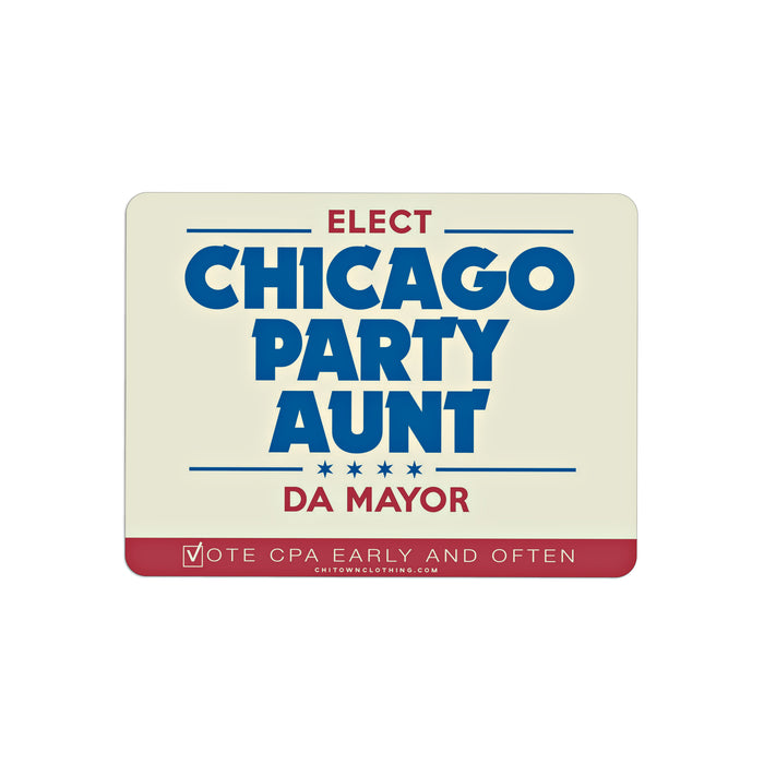 Chicago Party Aunt For Mayor Sticker