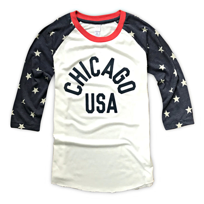 Chicago USA Raglan