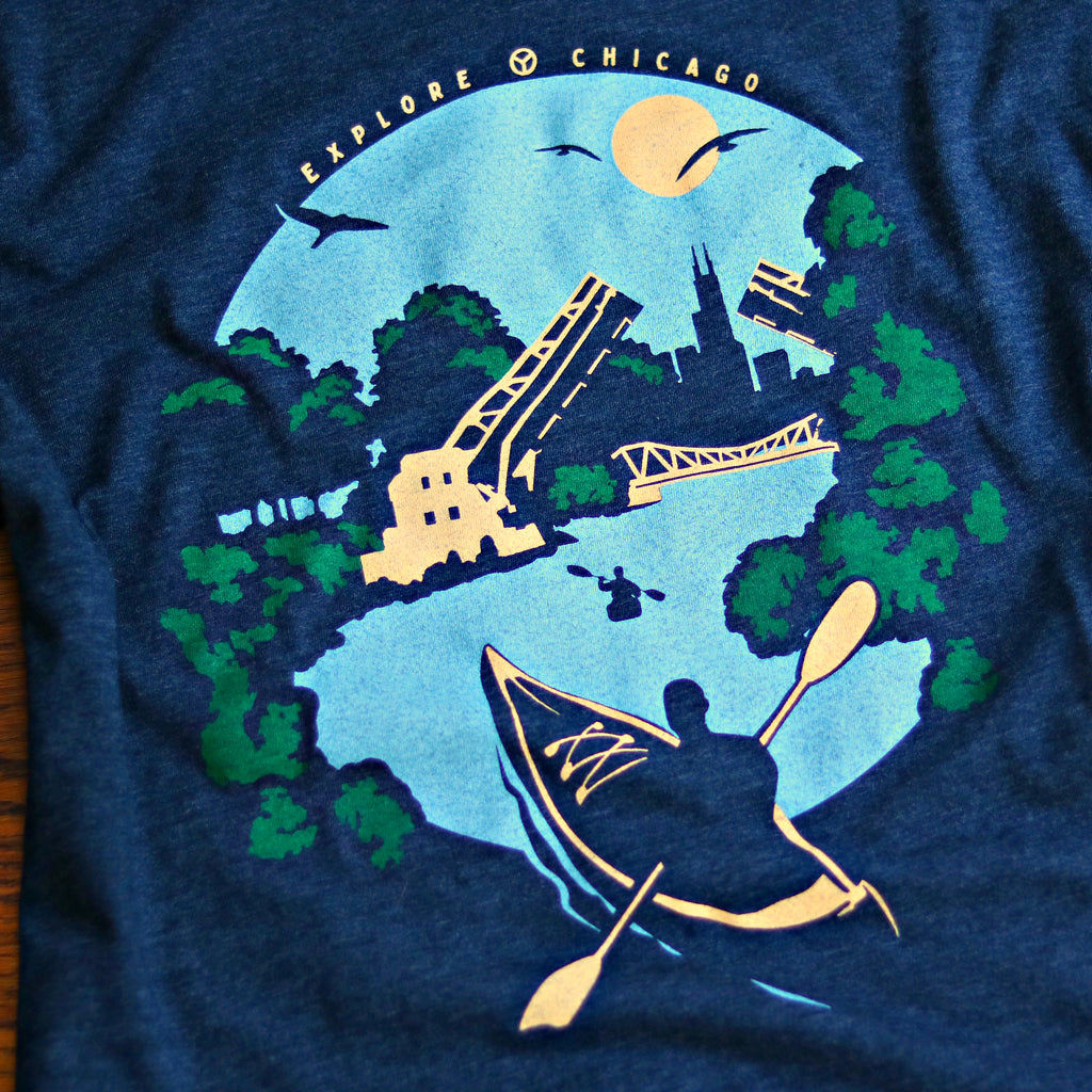 Kayak Chicago River Shirt