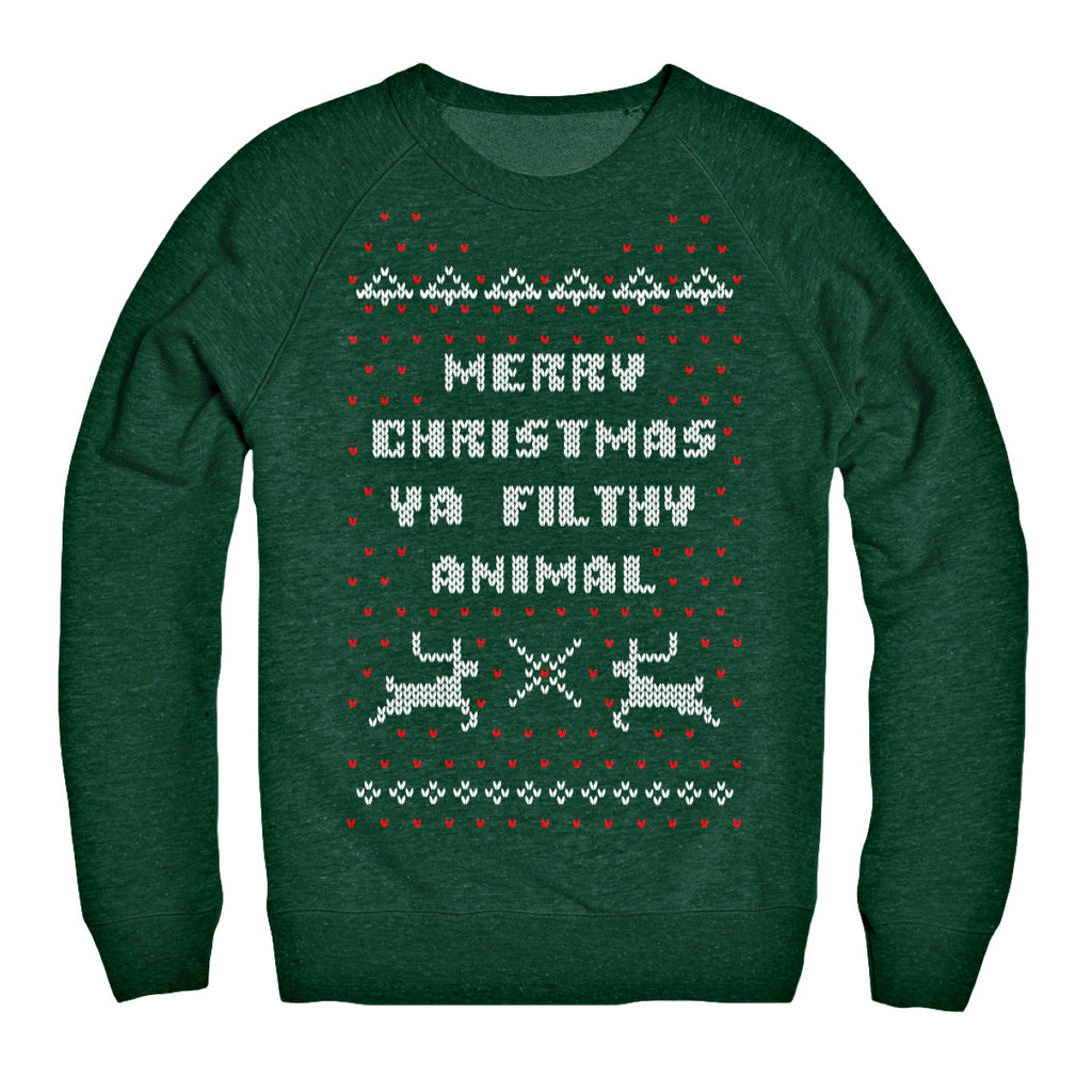 21fc32162 Merry Christmas Ya Filthy Animal Sweater - Chitown Clothing