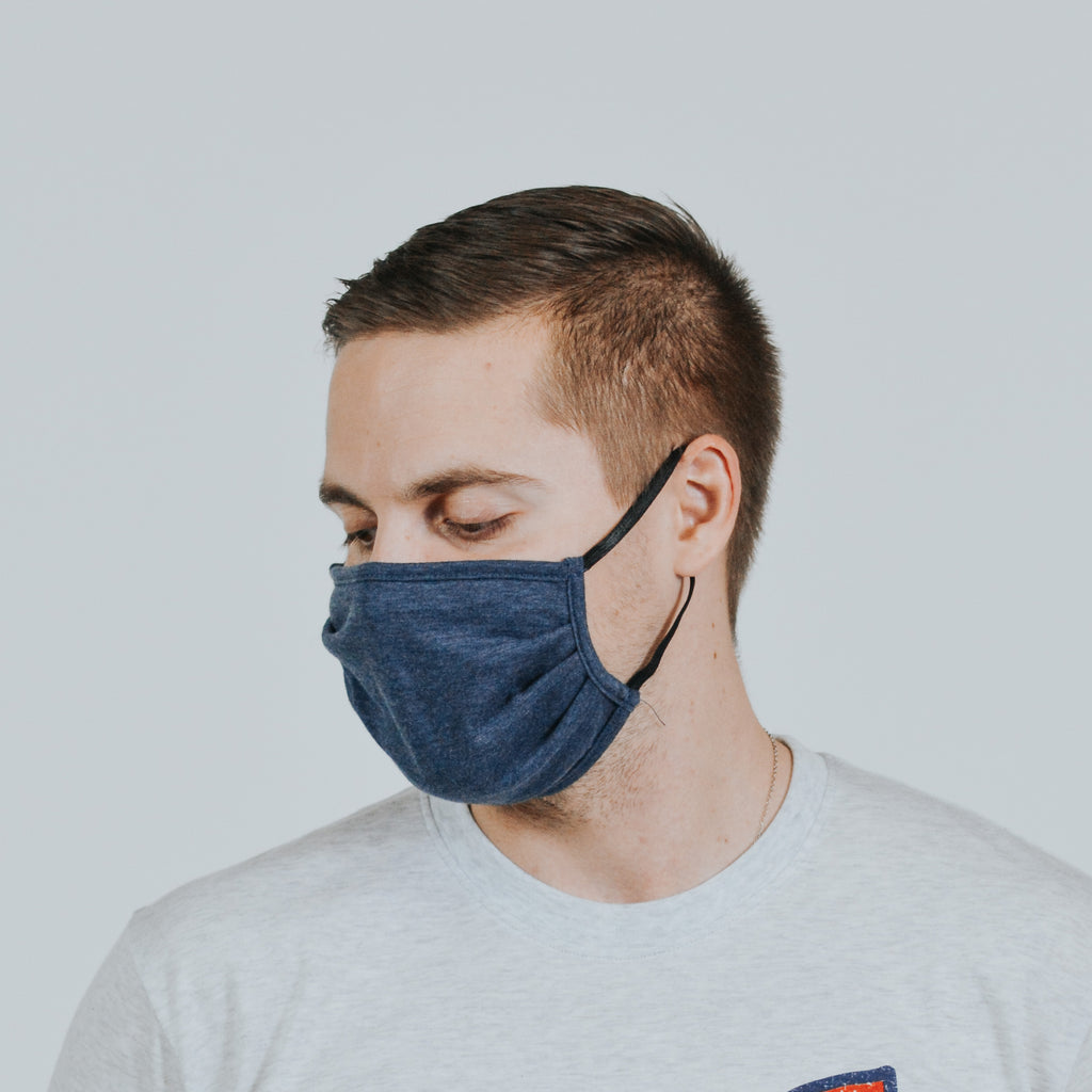 Navy Blue Cloth Mask