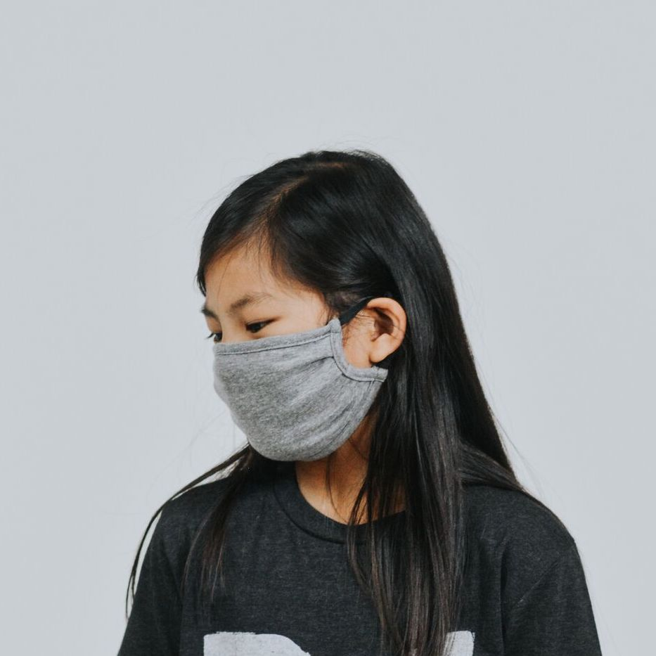 Youth Gray Cloth Mask