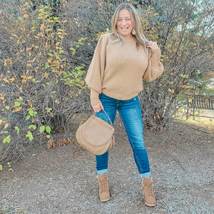 Nutmeg Puff Sleeve Sweater