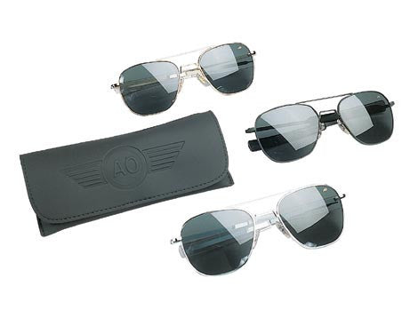 10706 GENUINE GOV'T 52MM A.F. PILOTS POLARIZED SUNGLASSES BY AO EYEWEAR (AMERICAN OPTICS)