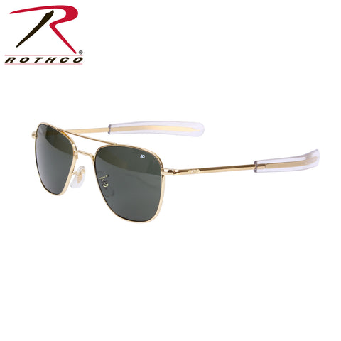 10722 / 10724 American Optical Original Pilots Sunglasses - Gold/Green