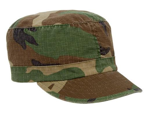 1153 Rothco Women Adjustable Vintage Fatigue Cap - Woodland Camo