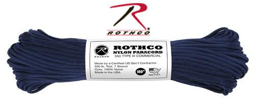 124 Rothco Nylon Paracord 550lb 100 Ft / Midnight Blue