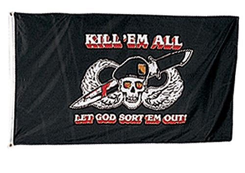 1481 Rothco Kill'em All 3' X 5' Flag