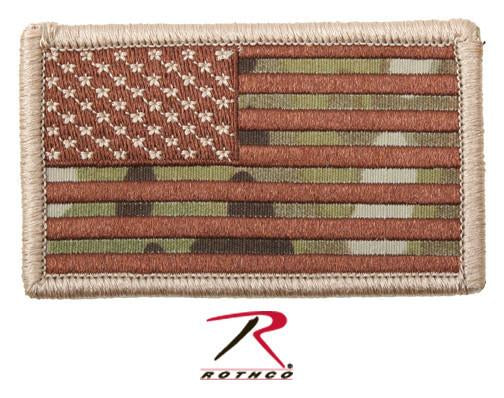 17771 Rothco Forward Multicam Flag Patch With Hook Back