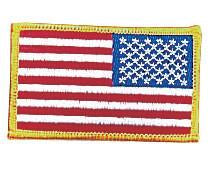 "17777 Rothco Reverse Us Flag Patch / 2"" X 3"""
