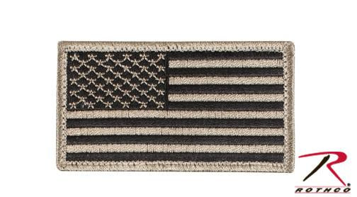 17782 Rothco US Flag Patch W/ Hook Back - Khaki/Black