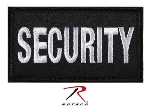 17785 Rothco Security Patch W/ Hook Back - Black/Silver