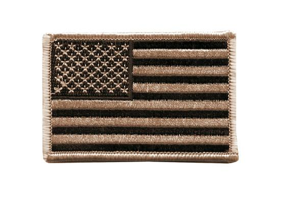 "1888 Rothco Us Flag Patch - Desert Tan / 2"" X 3"""