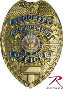1916 Rothco Deluxe Badge - Security/enforcement Officer / Gold
