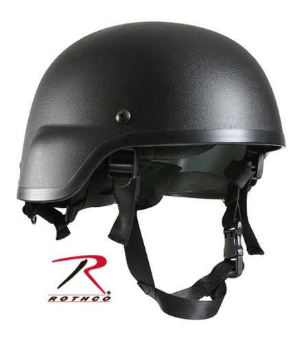 1995 Rothco G.I. Type Black ABS Plastic MICH-2000 Tactical Helmet