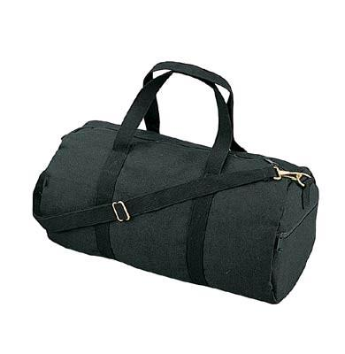2221 Rothco Canvas Shoulder Bag - Black / 19""