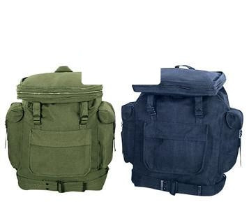 2304 ROTHCO CANVAS EUROPEAN RUCKSACK - OD / NAVY