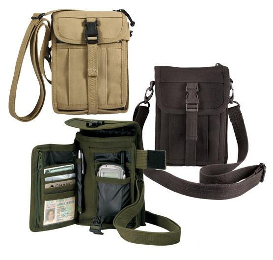 2325 ROTHCO CANVAS TRAVEL PORTFOLIO - BLACK / OD / KHAKI