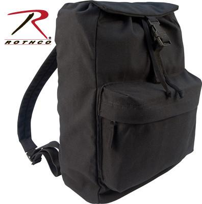 2369 Rothco Heavyweight Black Canvas Day Pack