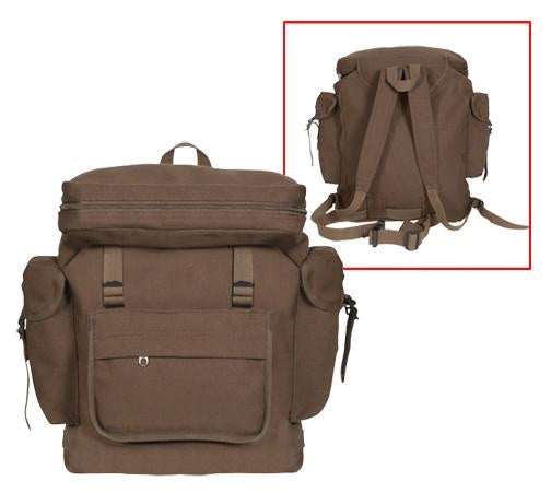 2384 ROTHCO CANVAS EUROPEAN RUCKSACK - EARTH BROWN