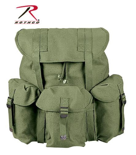 2487 Rothco G.I. Type H.W. Olive Drab Canvas Mini Alice Pack