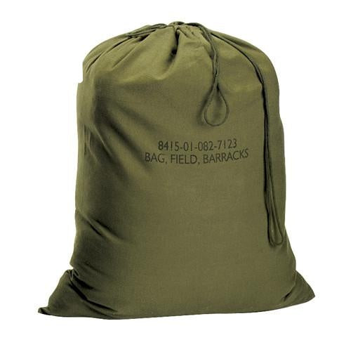 "2574 ROTHCO GI TYPE CANVAS BARRACKS BAG / 18"" X 27"" - OLIVE DRAB"