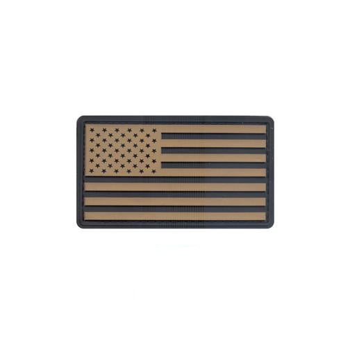 27782 Rothco Pvc Us Flag Patch W/ Hook Back - Khaki/blk