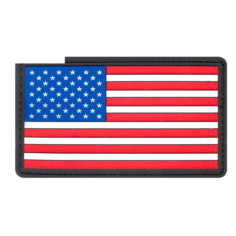 27784 Rothco PVC US Flag Patch With Hook Back - Red / White / Blue