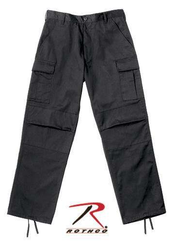 2971 Rothco Relaxed Fit Zipper Fly BDU Pants - Black