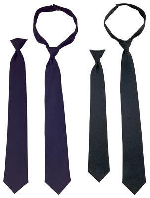 30085 Rothco Police Issue Hook n' Loop Neckties - Black, 20 Inches
