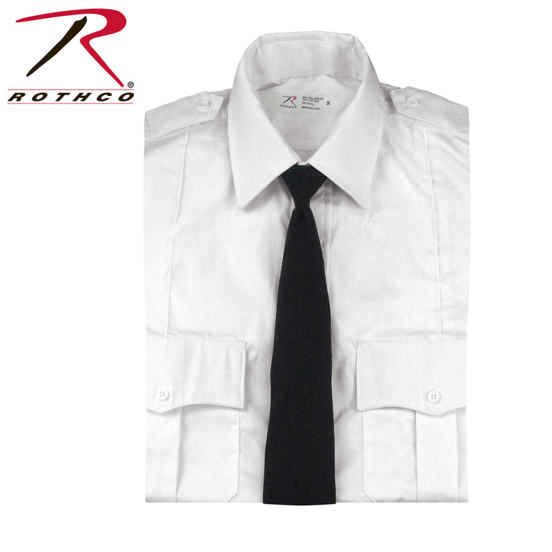30082 / 30084 / 30088 Rothco Black Police Issue Necktie - Clip-on