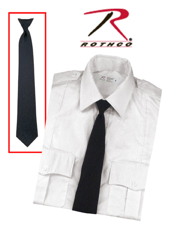 30084 Rothco Black Police Issue Necktie - Clip-on