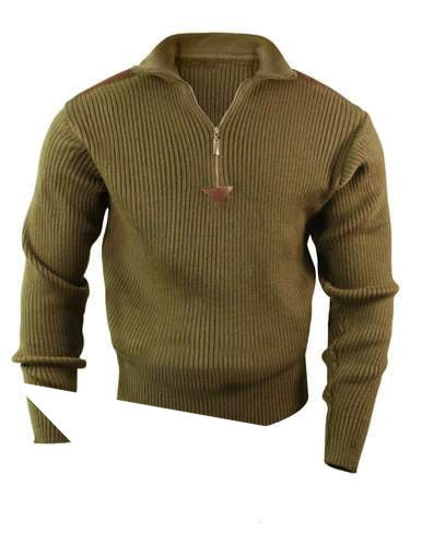 3370 RothcoOlive Drab Zip Commando Sweater
