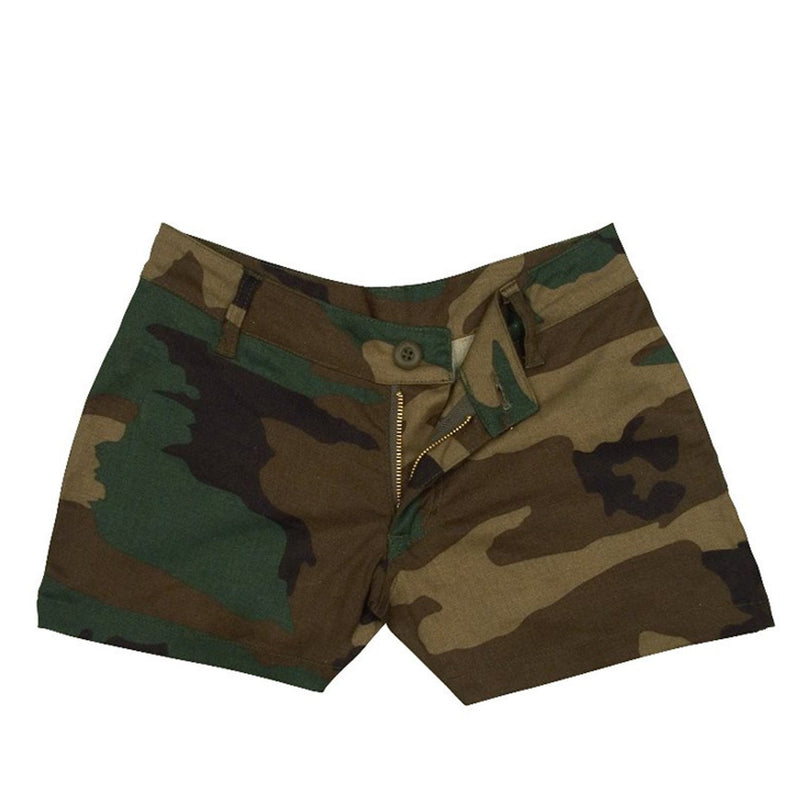 3376 Rothco Womens Shorts - Woodland Camo