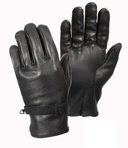 3383 Rothco D-3A Black Leather Gloves