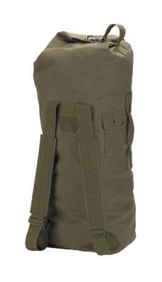 "3486 Rothco Gi Style Canvas Double Strap Duffle Bag / 22"" X 38"" - Olive Drab"