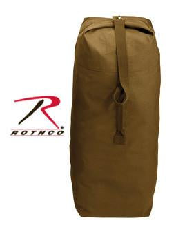 "3895 Rothco Top Load Canvas Duffle Bag / 25"" X 42"" - Coyote"