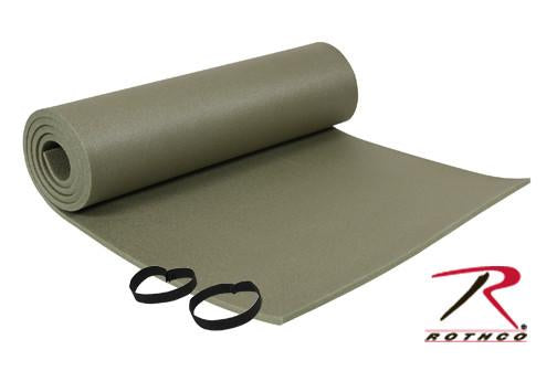 4089 Rothco Foam Sleeping Pad With Ties, OD