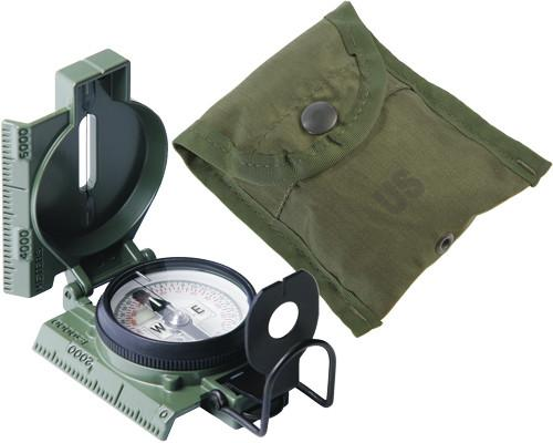 415 Rothco G.I. Olive Drab Military Phosphorescent Lensatic Compass