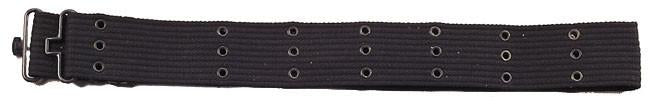4219 Rothco G.i. Style Black Canvas Pistol Belts W/metal Buckles