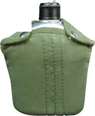 422 ROTHCO ALUMINUM CANTEEN W/COVER - OLIVE DRAB
