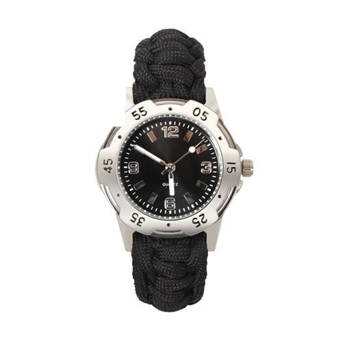 4253 Rothco Paracord Bracelet Watch - Black