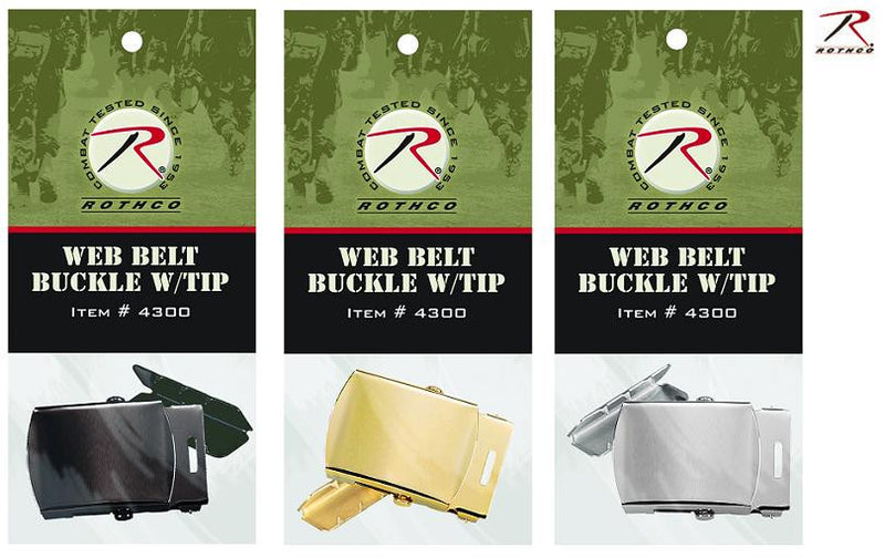 4300 GI TYPE WEB BELT BUCKLE AND TIP PACK